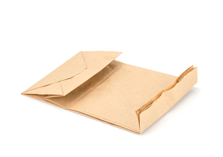 brown paper bag: recycle brown paper bag isolate on white