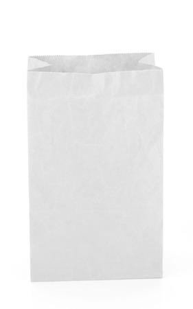 chipboard: recycle brown paper bag isolate on white