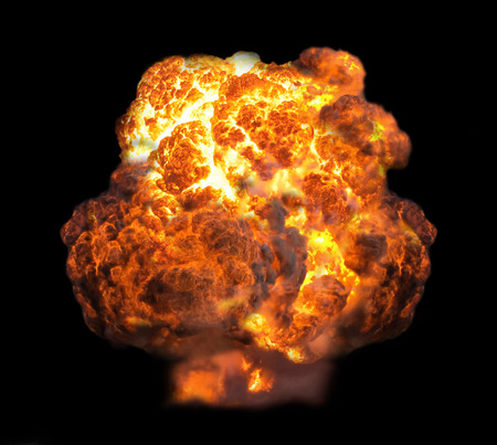 nuclear explosion: explosion in dark