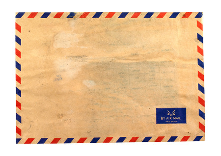 old envelope: Vintage old envelope,mail isolate