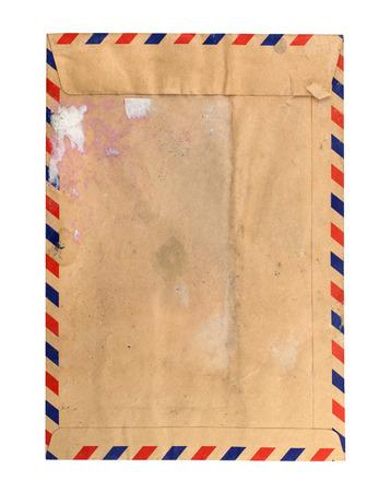 old envelope: Vintage old envelope,mail isolate