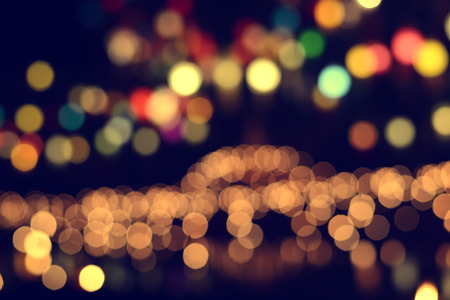 Lights blurred bokeh