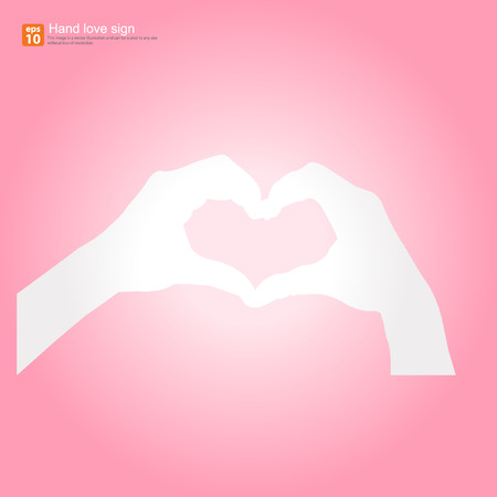 hand making heart sign gesture Vector