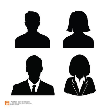 man and woman sex: Набор векторных мужчин и женщин с бизнес Аватар Фотография