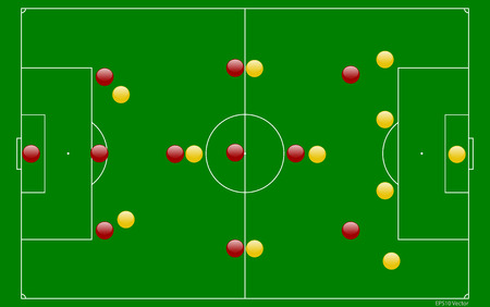 Soccer Field Diagram Royalty Free Cliparts Vectors And Stock