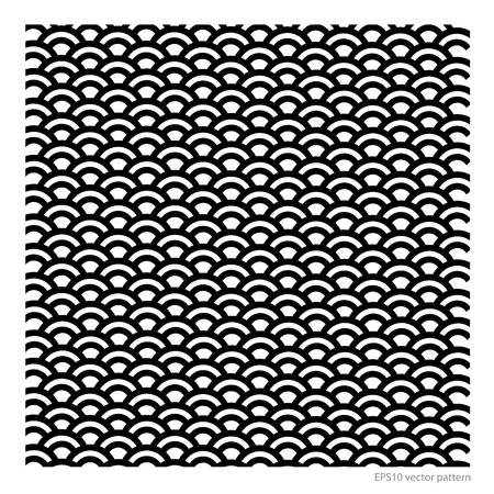 fish scale pattern  japanese style vector format Vector
