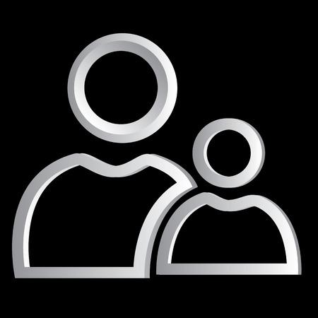 mentor: Mentor icon web concept metal
