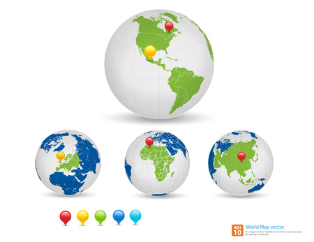 New world map with globe and pin marker location vector format new world map with globe and pin marker location vector format vector format stock vector gumiabroncs Gallery