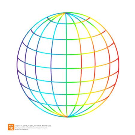 New colorful globe icon vector design