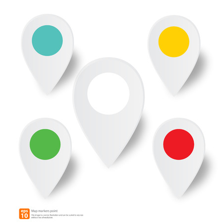 pin point: New pin point icon for map markers vector design