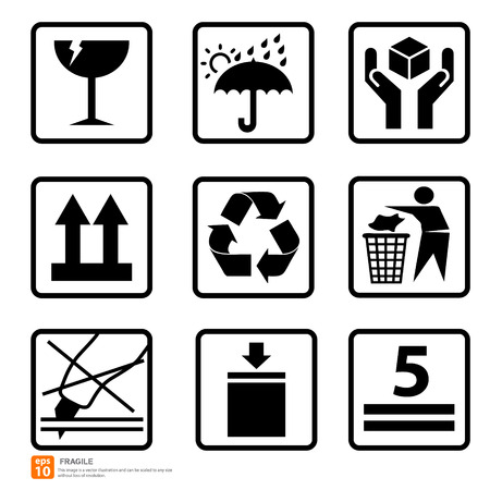 New box sign warning vector icon Reklamní fotografie - 33820627