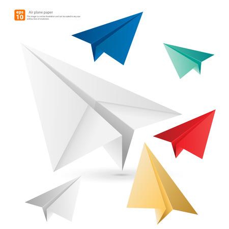 Kleurrijke vliegtuig papier vector ontwerp