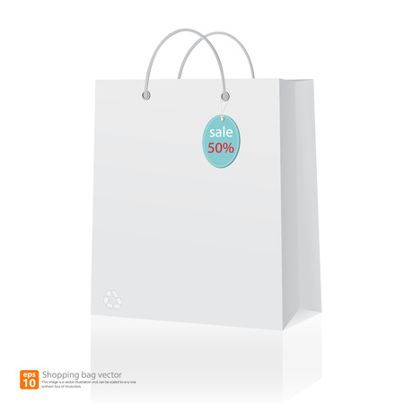recycle bag: Recycle paper shopping bag vector format Illustration