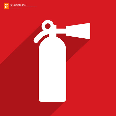 New fire extinguisher symbol vector design