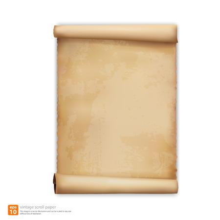 vintage scroll paper vector format