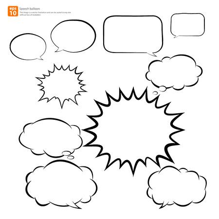 New vector speech balloon icon