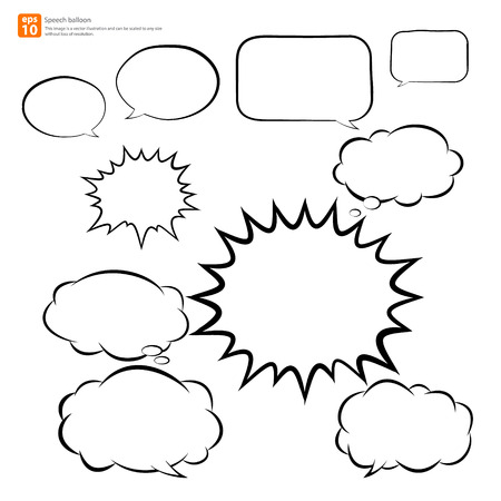 New vector speech balloon icon Stock Vector - 33820775