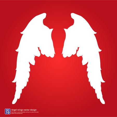wings angel: Nuove ali d'angelo silhouette disegno vettoriale Vettoriali