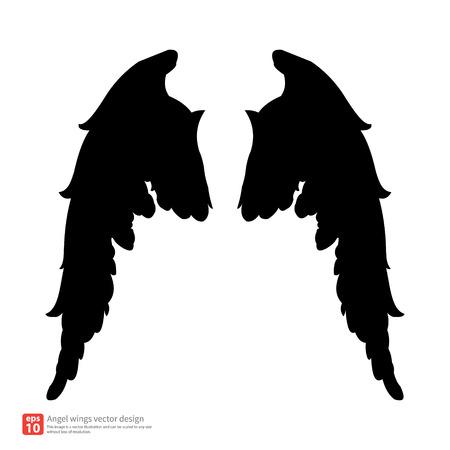 wings vector: New angel wings silhouette vector design