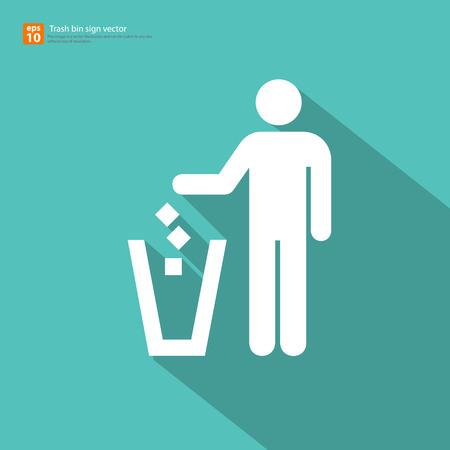 New vector trash bin sign