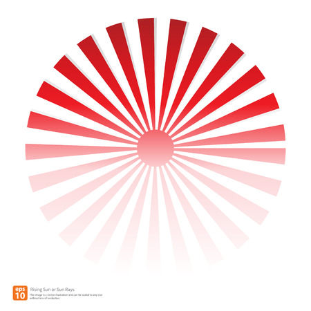New Red Rising Sun Or Sun Ray,sun Burst Vector Design Royalty Free ...