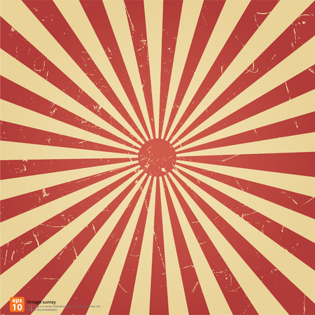 New vector Vintage red rising sun or sun ray,sun burst retro background design Imagens - 33812959