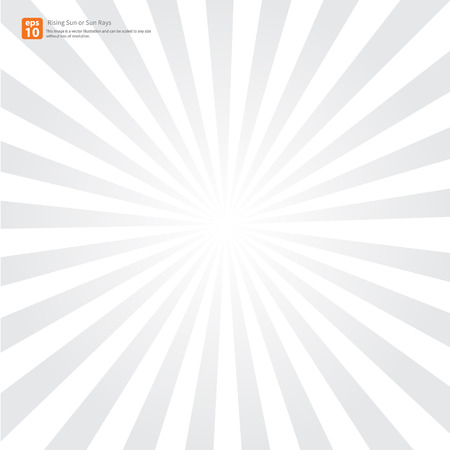 太陽光線または新しい灰色の朝日、太陽バースト ベクター デザイン
