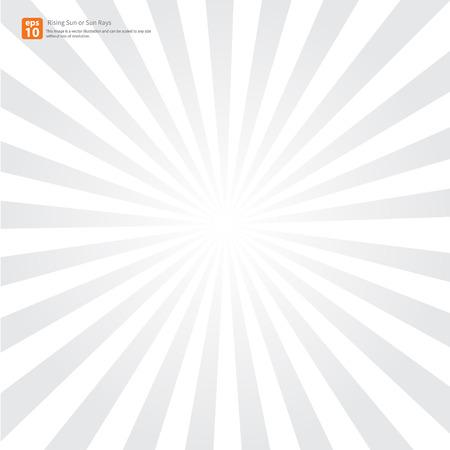 Nuevo sol gris ascendente o rayo de sol, sol ráfaga diseño vectorial Vectores