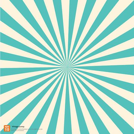 New vector Vintage sky rising sun or sun ray,sun burst retro design Vettoriali