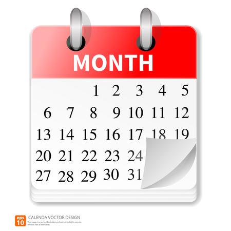 New  calendar vector format Ilustração