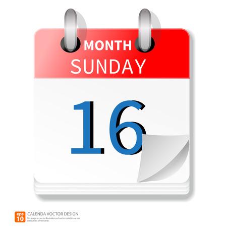 new day: Nuovo formato giorno di calendario vettoriale Vettoriali