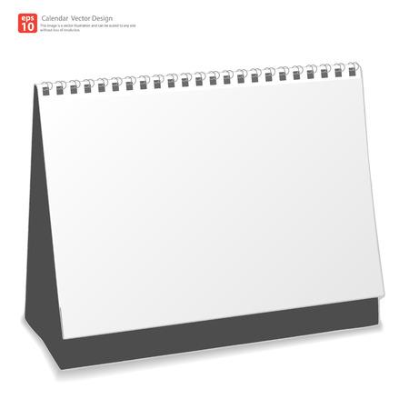 Nuevo calendario de escritorio de diseño vectorial Foto de archivo - 33812531