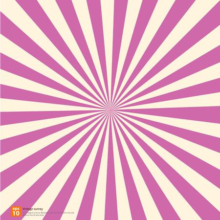 New vector Vintage pink rising sun or sun ray,sun burst sweet retro design