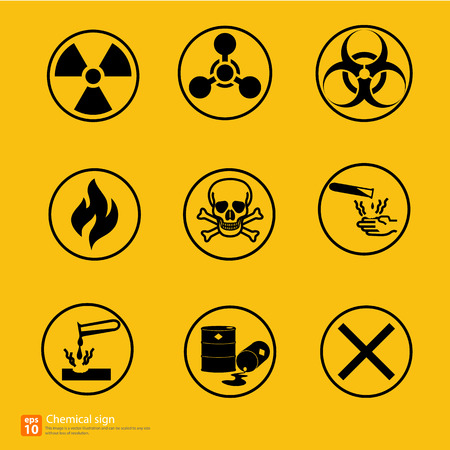 laser hazard sign: New chemical sign warning vector design