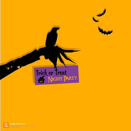 Halloween concept with Witch hand Vector