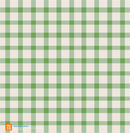 chequered drapery: New table cloth green vintage color vector design
