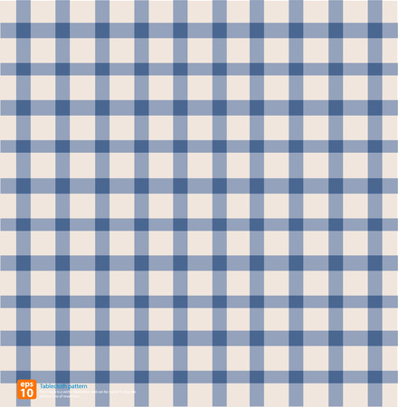 chequered drapery: New table cloth  vintage color vector design