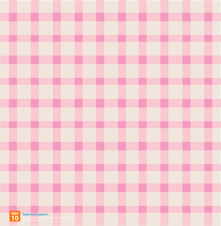 chequered drapery: New table cloth pink vintage color vector design Illustration