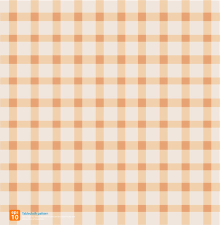 chequered drapery: New table cloth orange vintage color vector design Illustration