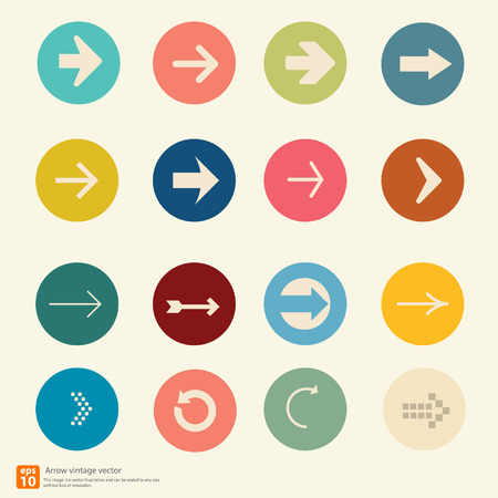 New Arrow icon vector vintage color style Vector
