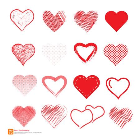 New heart hand draw vector design Vector