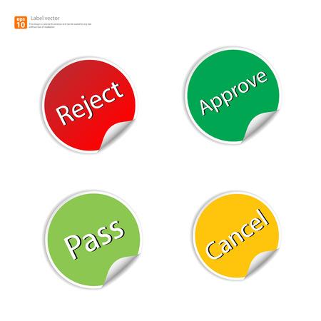 no edges: New label sticker vector design