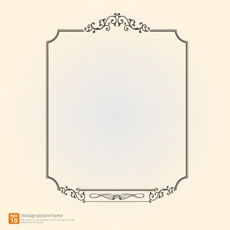 Vintage or Retro picture frame vector design