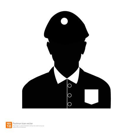 cartero: Silueta cartero avatar fotos de perfil