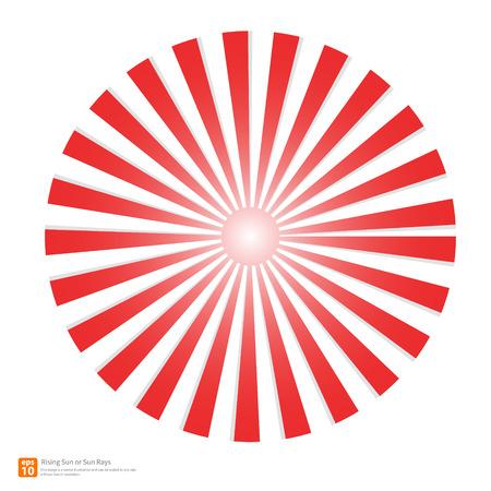 New Red rising sun or sun ray,sun burst vector design Stock Illustratie