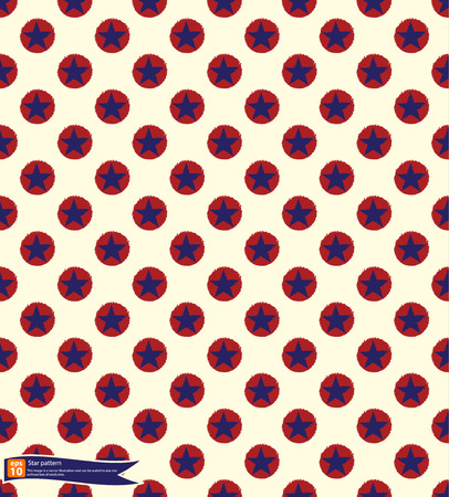 gamut: Vintage star pattern vector design, Seamless polka dot pattern with stars in american national flag colour gamut.