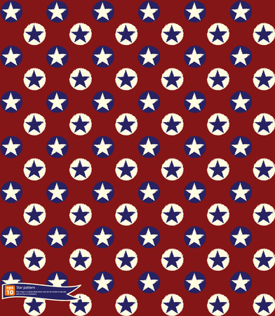 american stars flag pattern, abstract seamless texture; vector art illustration Vector
