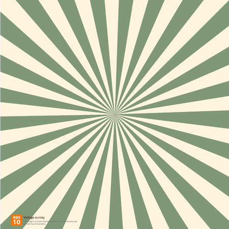 새로운 벡터 빈티지 녹색 떠오르는 태양 또는 태양 광선, 태양 버스트 복고풍 배경 디자인 일러스트