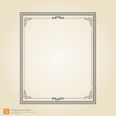Vintage or Retro picture frame vector design Vector