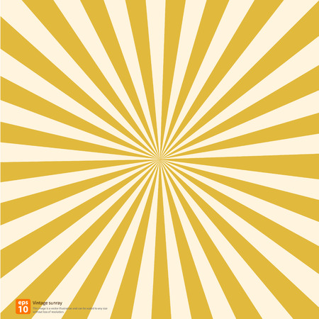 New vector Vintage yellow rising sun or sun ray,sun burst retro background design Ilustração